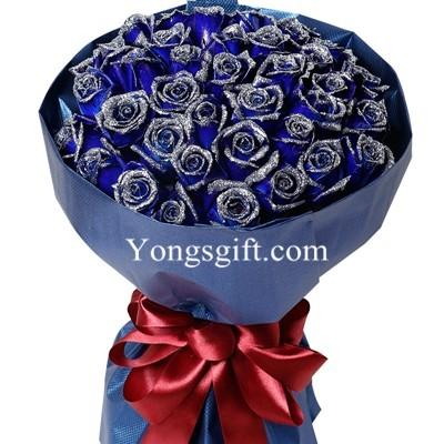 Deluxe Blue Rose Bloom