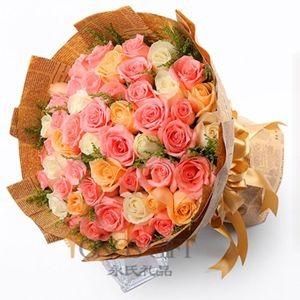 Mixed Color Rose Bouquet to Taiwan