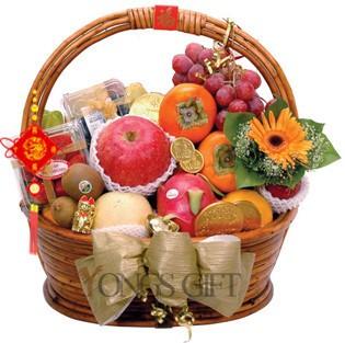 Happy New Year Deluxe Fruit Basket