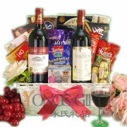 French Wine Duo Basket