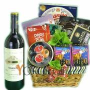 European Wine Gift Bakset