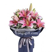 Fragrant Pink Lily Bouquet