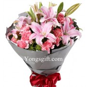 Lily and Carnation Bouquet