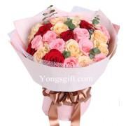 Mixed Rainbow Rose
