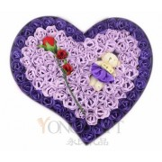 Handcrafted Soap Flowers Gift Box-Purple