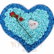 Handcrafted Soap Flowers Gift Box-Blue