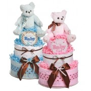 Baby Bear 2 Tier Diaper Cake