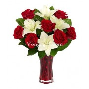 Classic Red Rose & Lily