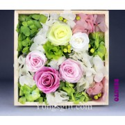 Fadelessly Squared Preserved Flower Gift Box Deluxe