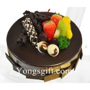 8 Inch Chocolate Fruit Cake