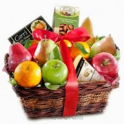 Fruit and Snack Gift Basket