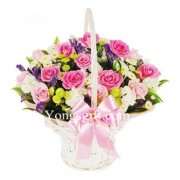 Breathtaking Blooms Flower Basket