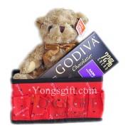 Teddy Bear & Godiva Chocolate Gift