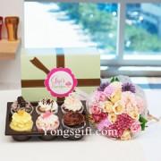 Gigi's Cup Cakes & Flower to South Korea