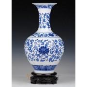 Blue-white Porcelain Vase-Fishtail