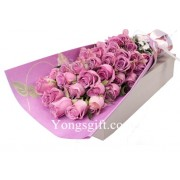 Purple Rose in Gift Box