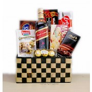 Johnnie Walker Red Label and Gourmet Basket