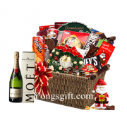 Xmas Moet Celebration Gift Basket