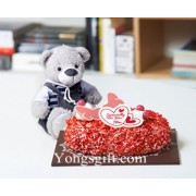 Especially For You Strawberry Cake and Bear to Korea