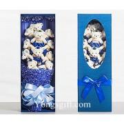 Teddy Bear Bouquet to South Korea-Blue