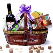 Spanish Wine Gift Basket With Teddy
