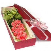 Romatic Pink Rose Box