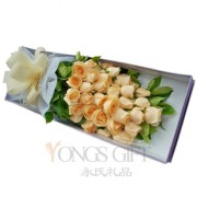 Elegant Champagne Rose Box