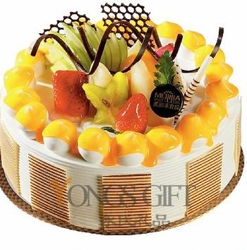 8 Inch Cream And Fruit Cake To China