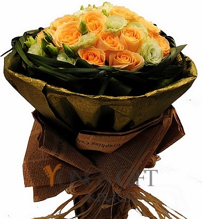 Rosa Champagne Bouquet to Taiwan