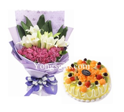 Wishing You A Very Happy Birthday Cake And Flower