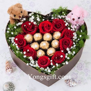 Rose And Chocolate Gift Box