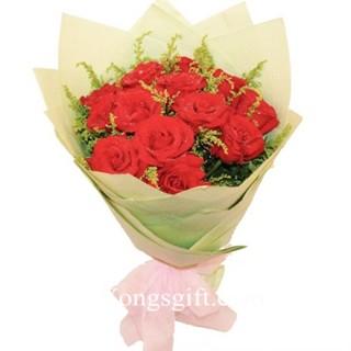 Simply One Dozen Red Rose to Macau