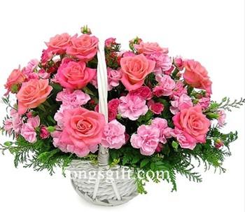 I Love My Mom Flower Basket to South Korea