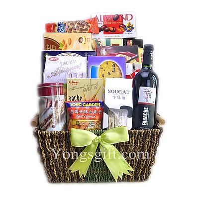 Elegant Extravaganza Wine Gift Basket