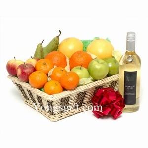 Fruit Basket with White Wine