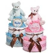 Baby Bear 2 Tier Diaper Cake