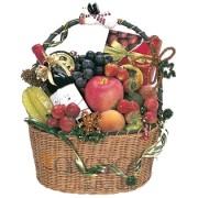 Holiday Fruit, Wine and Chocolate Basket