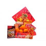 Orange and Gourmet Gift Basket