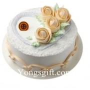 Rose Blooming Cake to China