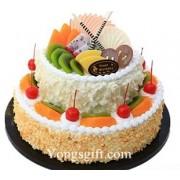 Two Layer Happy Birthday Cake to China