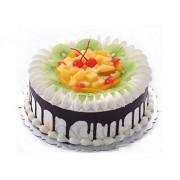Cream, Fruit and Chocolate Cake to China