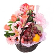Flower and Fruits Basket