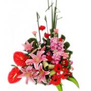 Spring is Warm Premium Flower Basket to Taiwan