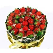 Chocolate Strawberry Cake to Indonesia