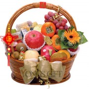 Happy New Year Deluxe Fruit Basket-OUT OF STOCK!