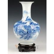 Blue-white Porcelain Vase-Chinese Painting