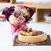 Monca Cake Plus Purpule Bouquet to South Korea