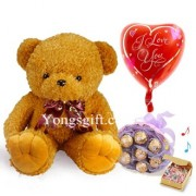 Chocolate Bouquet with Teddy and Balloon to Taiwan