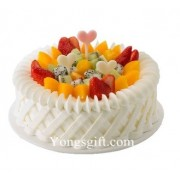 Cream and Fruits Cake to Taiwan