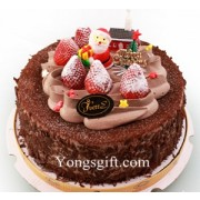 Merry Christmas Chocolate Blueberry Cake To Taiwan